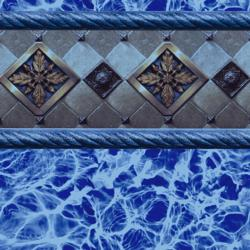 Bayview Blue Tile<br> Blue Diffusion Floor