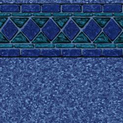 Blue Lancashire Tile<br> Blue Beach Pebble