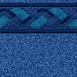 Blue Raleigh Tile<br> Blue Beach Pebble Floor