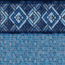 Blue Argos Tile<br> Stonecraft Mosaic Floor