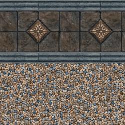 Slate Medallion Tile<br> Clearwater Tan Floor