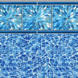 Sunburst River Tile<br> River Mosaic Floor