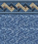 Mountain Top Blue Mosaic Inground Pool Liner