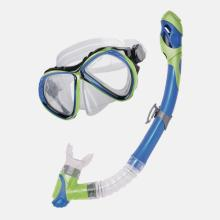 Curacao Snorkel and Mask - Blue and Lime
