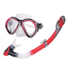 Curacao Snorkel and Mask - Red and Black