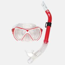 Catalina Recreational Snorkel and Mask - Red and White