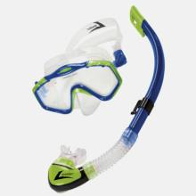 Majorca Series Snorkel and Mask - Blue and Lime