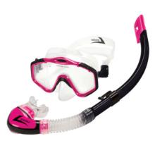 Majorca Series Snorkel and Mask - Pink and Black