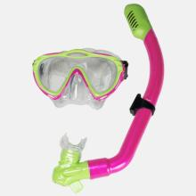 Majorca Series Snorkel and Mask Junior - Pink and Lime